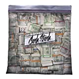 Steelplant Cash Stash - Cash in Ziplock Pillowcase,Money Green,17Wx19H inch case for a 18'' - 20'' insert