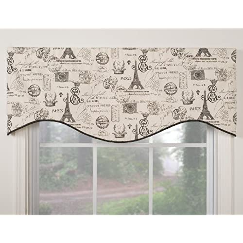 Victor Mill Paris Shaped Valance