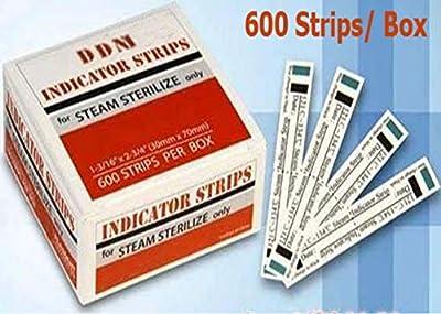 Sterilization Indicator Strips for Steam Sterilize Only (Confirms Successful Sterilization) 600 Strips per Box