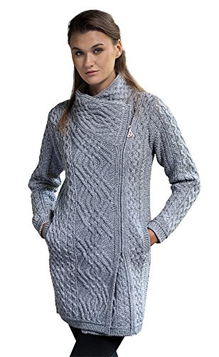 West End Knitwear Side Zip Cable Knit Wool Jacket (Large, ()