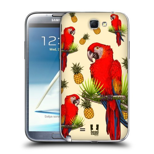 Head Case Designs Parrot Birds and Fruits Replacement Battery Back Cover for Samsung Galaxy Note 2 II N7100