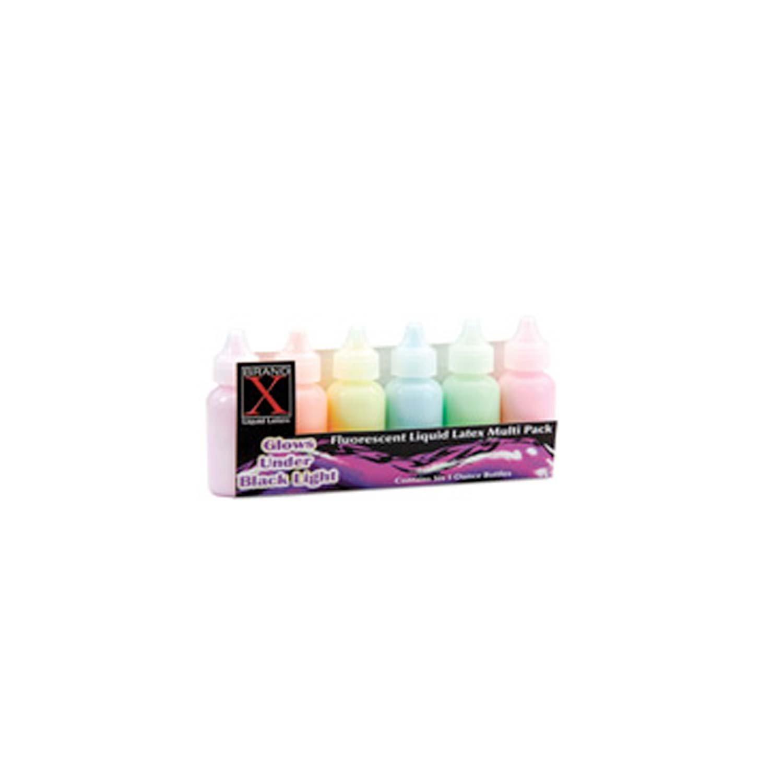 Fluorescent Liquid Latex 6 pc Set by Brand X - Simply Latex (Image #1)