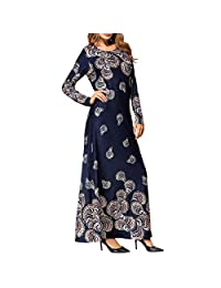 OCEAN-STORE Muslim Fashion Women's Ethnic Style Party Dresses Maxi Dress