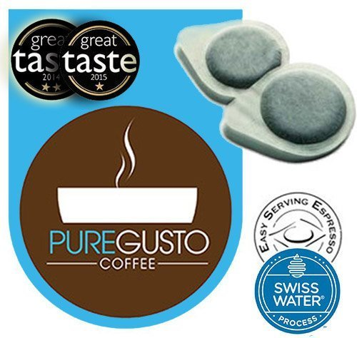 Price comparison product image Puregusto Swiss Water Decaf Espresso Pods by ESE-100 Pods