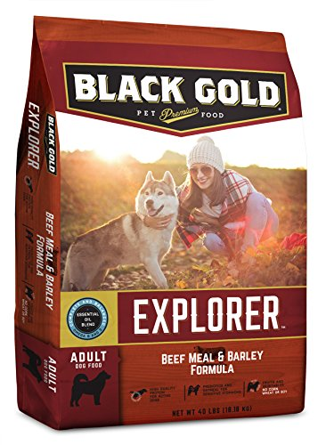 Beef Meal Barley (Black Gold Explorer Beef Meal & Barley Formula - 40 LB Bag.)