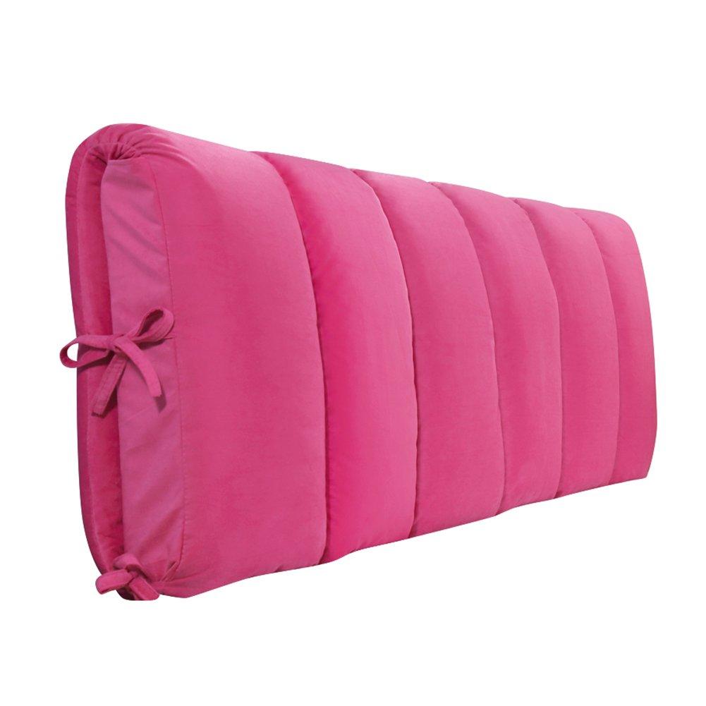 LIQICAI クッション ベッドの背もたれ三角形の大きな背もたれ エレガントで人間工学的な リムーバブルウォッシュ 背中/腰部は上向きになり、 4色、10サイズオプション (色 : Bright pink, サイズ さいず : 150*5*50cm) B07DNPHWX8Bright pink 150*5*50cm