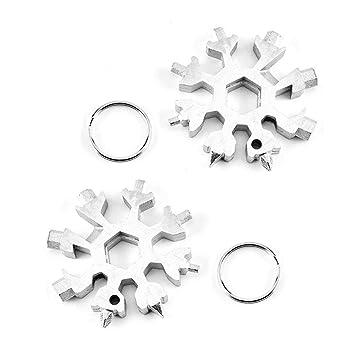 MOGOI Acero Inoxidable 18 en 1 Snowflake Multi-Tool, Tarjeta ...