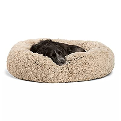 Best Friends by Sheri Luxury Shag Fuax Fur Donut Cuddler (Multiple Sizes) –Round Donut Cat and Dog Cushion Bed, Orthopedic Relief, Self-Warming and Cozy for Improved Sleep - Prime, Machine Washable, Water-Resistant Bottom