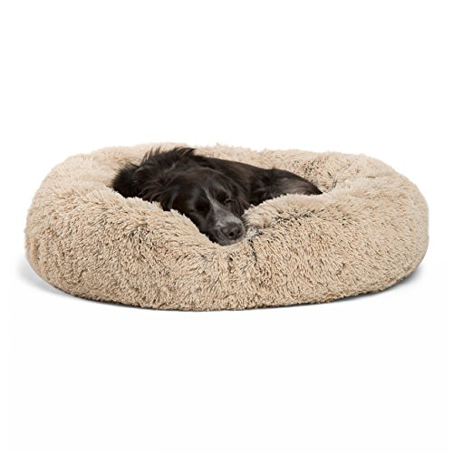 (Best Friends by Sheri DNT-SHG-TAU-3030-VP Luxury Shag Fuax Fur Donut Cuddler (Multiple Sizes) – Donut Cat and Dog Bed, 30