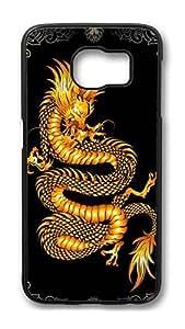 Brian114 Case, S6 Case, Samsung Galaxy S6 Case Cover, China Dragon Oriental Style 9 Retro Protective Hard PC Back Case for S6 ( Black )