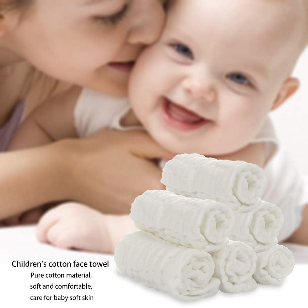 10 x10 Baby Muslin Washcloths 10 Pack Cotton Baby Wipes Face Towel for Newborn Baby Sensitive Skin Baby Shower Gift