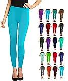 Lush Moda Seamless Full Length Leggings - Variety of Colors - Turquoise
