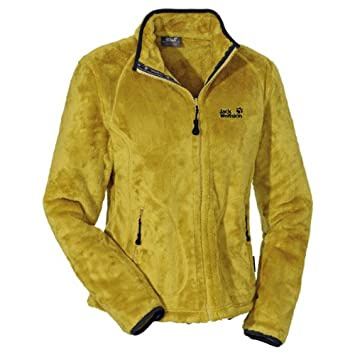 hot sale online abe12 47523 Jack Wolfskin Fleecejacke Damen, grün/gelb, M: Amazon.de ...