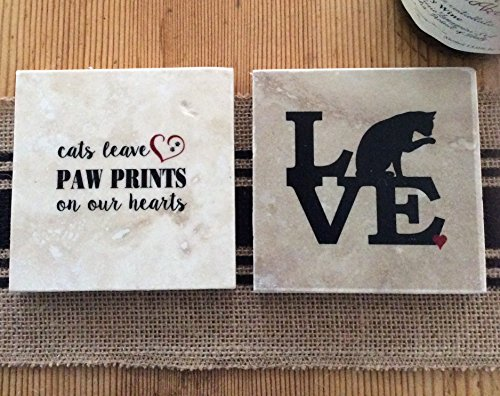 Cat Lover Coasters -Set of 4