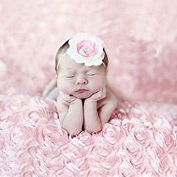 Newborn Photography Decorative Photo Prop Pink Rose Blanket for Baby photo(pink)