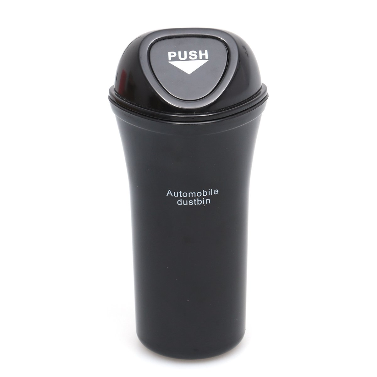 Black LIOOBO Portable Mini Automobile Dustbin Car Trash Can Car Organizer Leakproof Vehicle Trash Bin Garbage Can