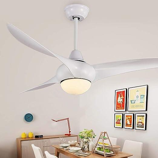 WWLONG Ventilador de Techo de Madera luz Ventilador de casa 52 ...