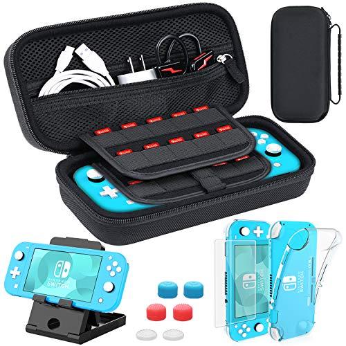 HEYSTOP Tasche für Nintendo Switch Lite, Nintendo Switch Lite TPU Hülle mit Schutzfolie,