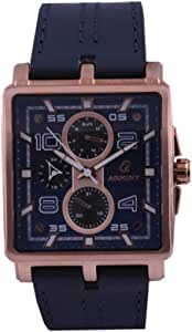 ارميني ساعة للرجال - انالوج بعقارب جلد، AR15012GRU