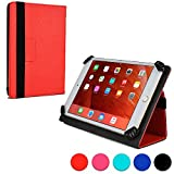 Kobo Arc 7 / 7 HD folio case, COOPER INFINITE UNIVERSAL Business School Travel Carrying Portfolio Case Protective Cover Folio with Built-in Stand for Kobo Arc 7 / 7 HD (Red)