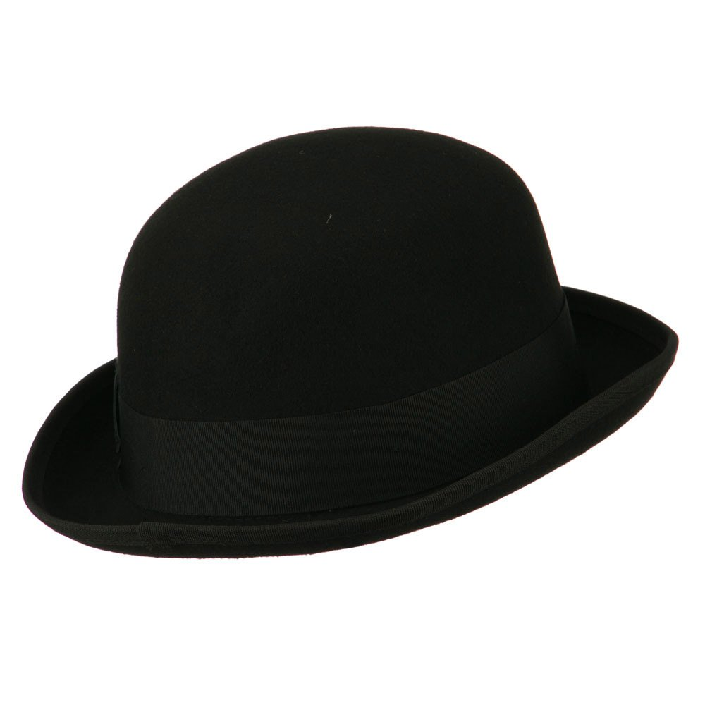 2f62cb086cef1 Jeanne Simmons Men s Felt Bowler Hat with Ribbon Trim at Amazon Men s  Clothing store