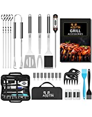 AISITIN Grill Accessories Grill Utensils Set, 25 PCS BBQ Tools Set Grill Set Stainless Steel Grilling Accessories Barbecue BBQ Accessories with Spatula Tongs Skewers for Barbecue Camping Kitchen
