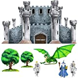Medieval Castle Dragon Knight Wizard Wall Mural Sticker