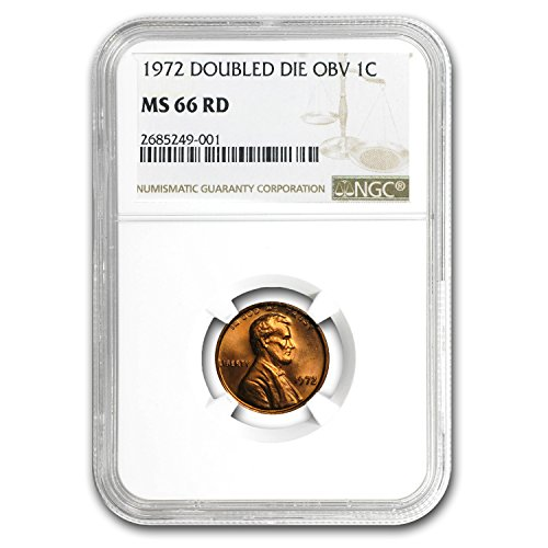 1972 Lincoln Cent Double Die Obverse MS-66 NGC (Red) Cent MS-66 NGC