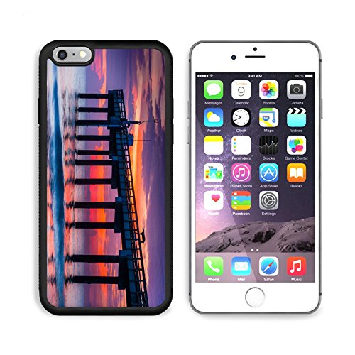 MSD Premium Apple iPhone 6/6S Plus Aluminum Backplate Bumper Snap Case IMAGE 30062030 The fishing pier at sunrise in St Augustine Beach - Pier Park Florida
