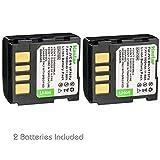 Kastar Battery 2 Pack for BN-VF707 BN-VF707U JVC GR-GR-D240 GR-D245 GR-D250 GR-D253 GR-D270 GR-D275 GR-D290 GR-D293 GR-D295 GR-D370 GR-D390 GR-D650 GR-DF470 GR-X5 GZ-D240 GZ-DF470 GZ-MG27 GZ-MG500
