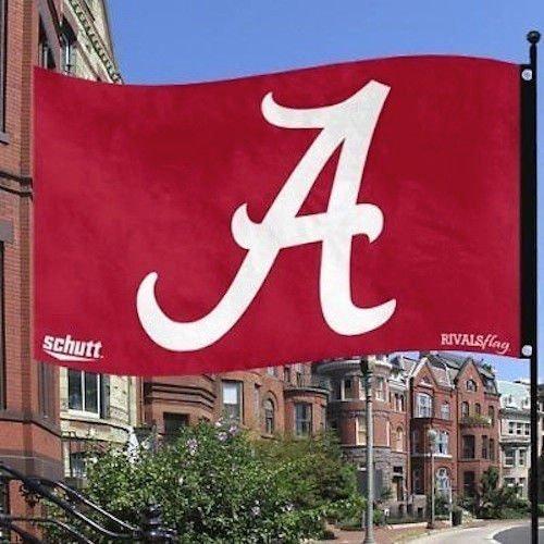 NCAA Alabama Crimson Tide Schutt Rivals Flag 3x5 Feet 2 Sided w/ Grommets