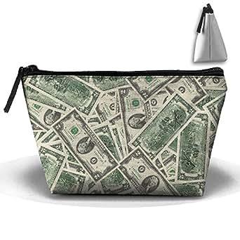 Amazon.com: Trapezoidal Bag Makeup Bag Flying Dollars