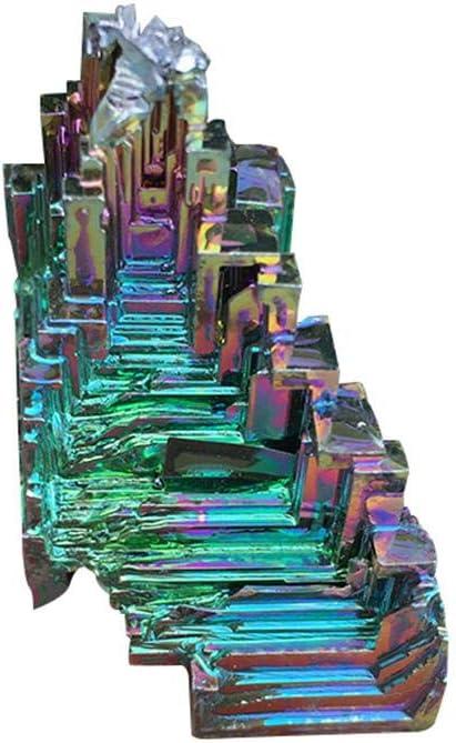 Jannyshop Asimétrico Color Brillante Arco Iris Cristal de Bismuto Joyas Piedras Preciosas Adornos 50 g