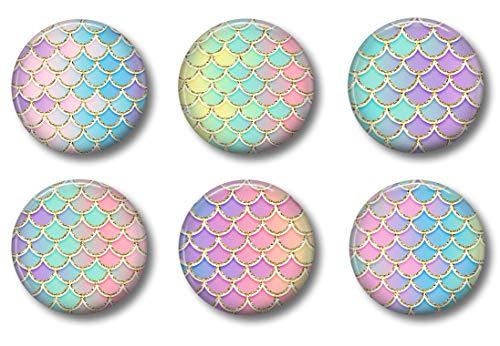 Locker Magnets For Girls - Pastel Mermaid Scales