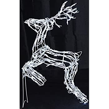40 reindeer led deer lighted christmas for Animated lighted reindeer christmas decoration