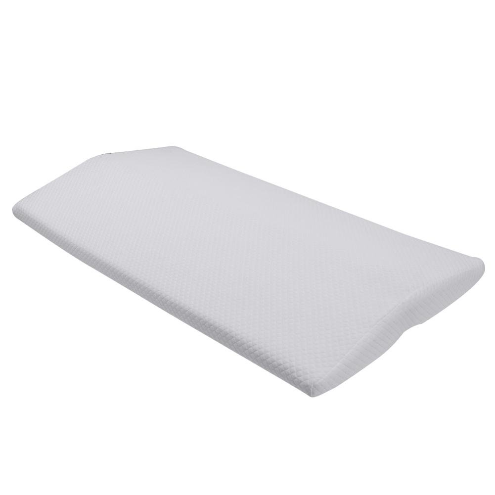 Bed Sleeping Wedge Pillow Memory Foam Waist Lumbar Support Cushion Pillow Waist Foot Rest Pillow for Lower Back Hip Pain Orthopedic Pregnancy Lacyie