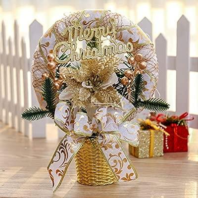 Healifty Escritorio de Navidad Decoraciones navideñas de sobremesa ...