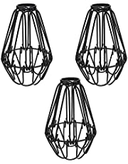 YUPVM 3 Pcs Iron Bulb Guard Lamp Cage, Ceiling Fan and Light Bulb Covers, Industrial Vintage Style Hanging Pendant Light Fixture Lamp Guard