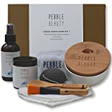 Facial Mask Kit - Green Earth Mask Kit - Clearer, Softer Skin, Reduced Pore Size. Konjac Sponge, Ceramic Bowl With Lid, Mask Accessories