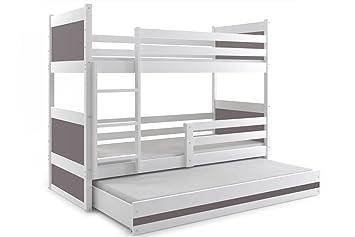 Etagenbett Quba 3 : Interbeds etagenbett rico für drei kinder farbe weiβ cm