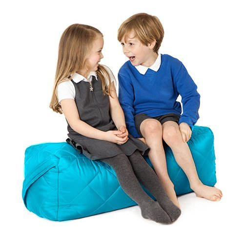 Fun!ture Turquoise Quilted Water Resistant Rectangular Bean Bag