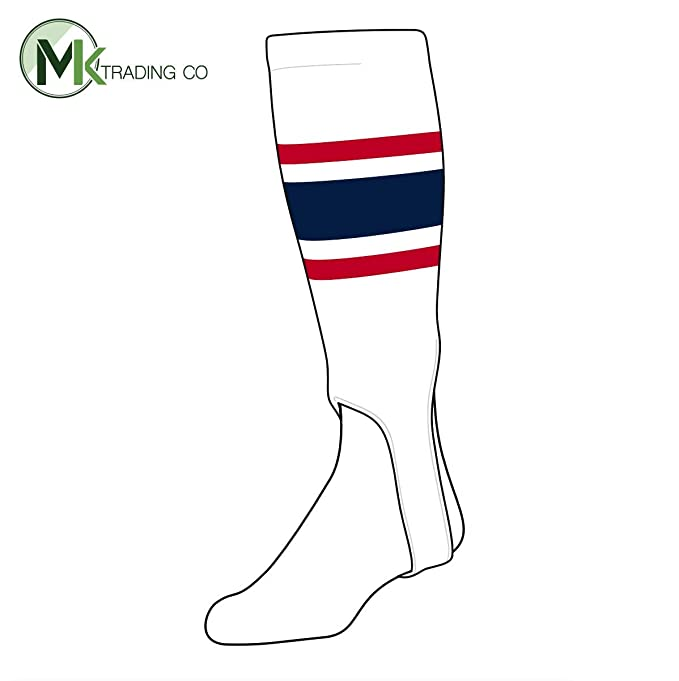 b9b23114a786c Amazon.com: TCK Baseball Stirrups Medium (200E, 5in) White, Red ...