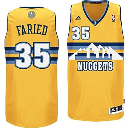 lowest price 92be0 1dd96 adidas Men's Denver Nuggets Kenneth Faried Jersey