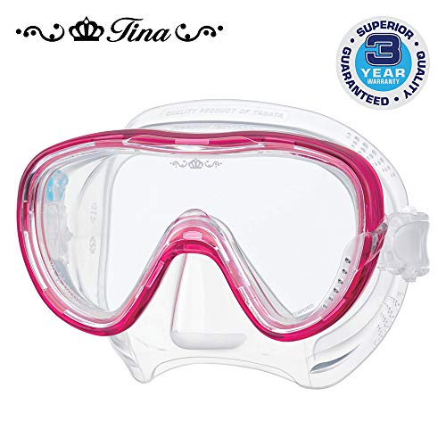 TUSA M-1002 Freedom Tina Scuba Diving Mask, Bougainvillea Pink ()