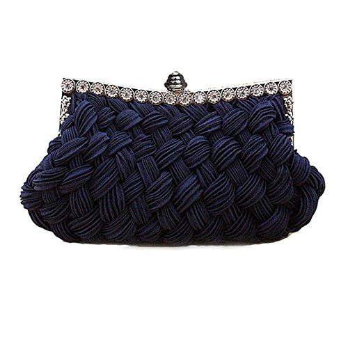 HT Evening Bag - Cartera de mano para mujer azul oscuro