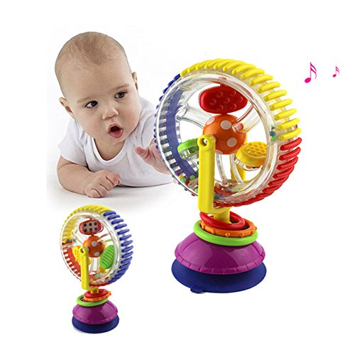 Pansupply Baby toy colorful ferris wheel with rattles child early educational musical visual sense toys