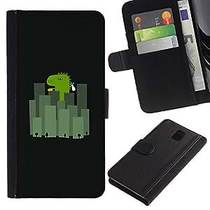 All Phone Most Case / Oferta Especial Cáscara Funda de cuero Monedero Cubierta de proteccion Caso / Wallet Case for Samsung Galaxy Note 3 III // Japan City Minimalist Black Cartoon