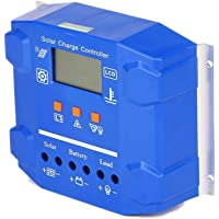 Controlador de carga solar 50A 24V 12V / Regulador de carga Pantalla inteligente Protección contra sobrecarga Intuitivo y Fácil de Usar