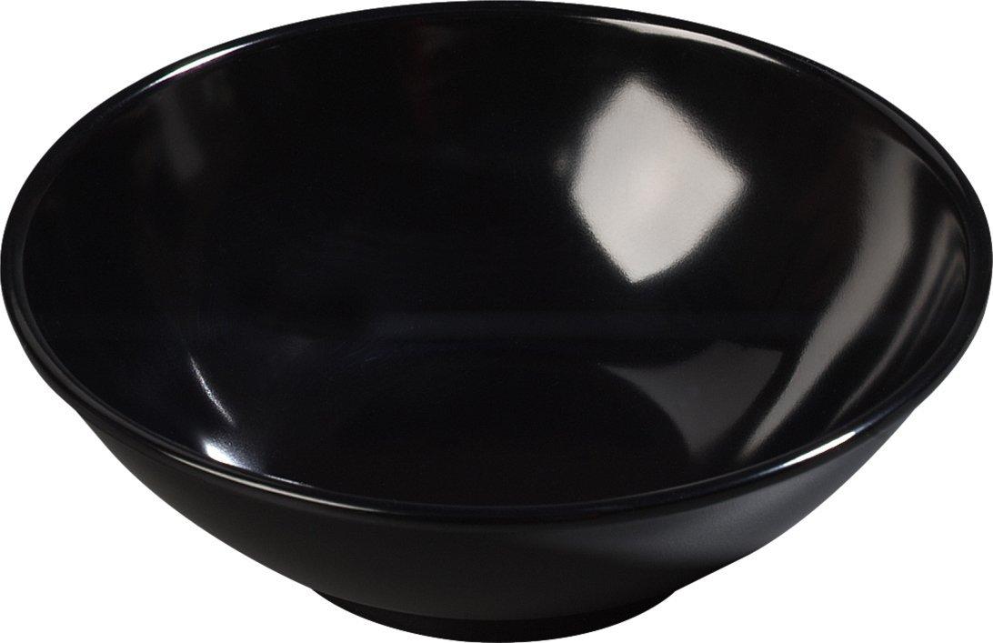 Carlisle 650B03 Melamine Salad Bowl, 20.7 oz. Capacity, 6.50 x 2.18'', Black (Case of 72)