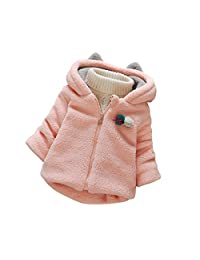 YOUJIA Baby Girl Lamby Coat Lightweight Hooded Overcoat Jacket